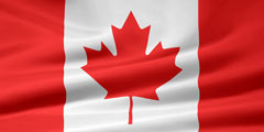 rippled Canadian flag