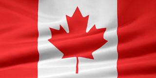 rippled Canadian flag